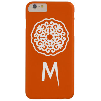 Persimmon Asian Moods Mandalla with initial Barely There iPhone 6 Plus Case