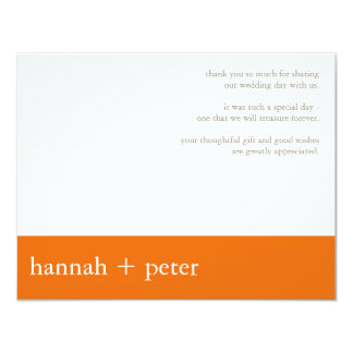Persimmon Banner :: Thank You Card