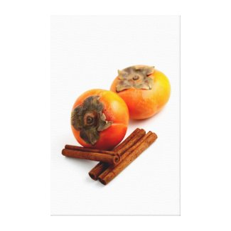 Persimmon Cinnamon Canvas Prints