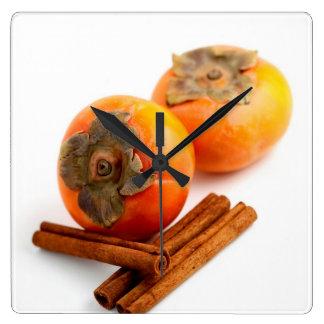 Persimmon Cinnamon Wallclock