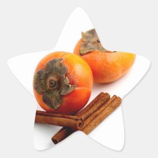 Persimmon Cinnamon Star Sticker