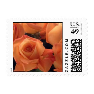 Persimmon Colored Roses Stamps