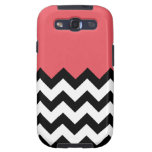 Persimmon Coral Pink Pattern On Large Zigzag Samsung Galaxy S3 Cases