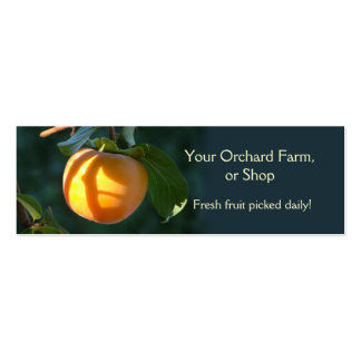 Persimmon fruit business card