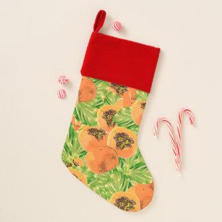 Persimmon (Kaki) Christmas Stocking