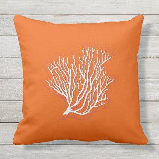 Persimmon Orange Sea Coral Decorative Throw Pillow