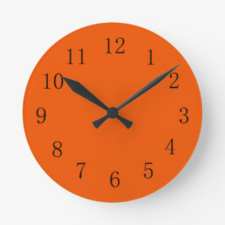 Persimmon Red Kitchen Wall Clock