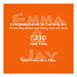 Persimmon Simply Color Save the Date Personalized Announcements
