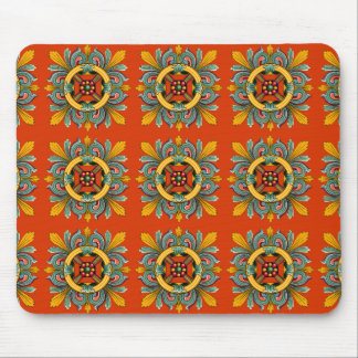 Persimmon Victorian Tile Design Mouse Pad