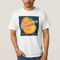 Persimmon Vintage Fruit Label Retro