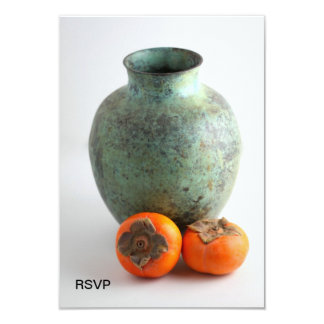 Persimmon With Vase 3.5x5 Paper Invitation Card