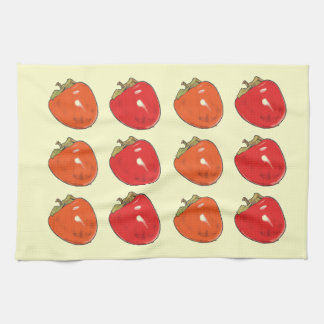 Persimmons - Orange and Red Kitchen Towel