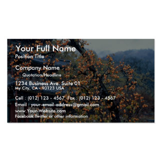Persimmons tree, fall business cards