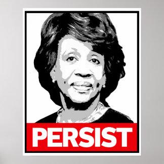 PERSIST - Maxine Waters Propaganda Sticker - Poster