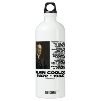 Persistence Determination Omnipotent Coolidge Aluminum Water Bottle