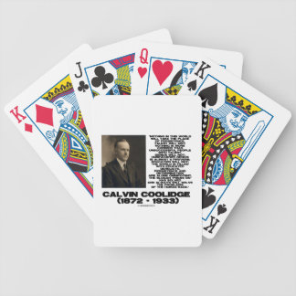 Persistence Determination Omnipotent Coolidge Bicycle Playing Cards
