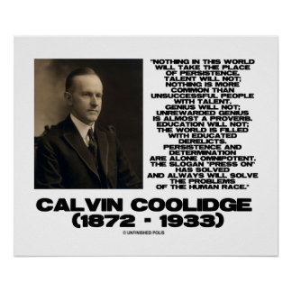 Persistence Determination Omnipotent Coolidge Poster
