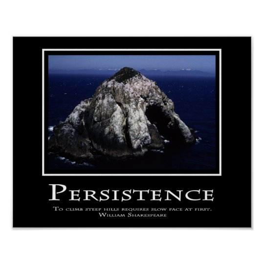Persistence Motivational Quotes: Persistence Poster