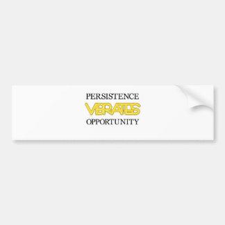 Persistence Vibrates Opportunity Bumper Sticker