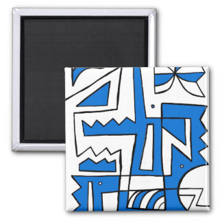 Persistent Affirmative Brave Spiritual 2 Inch Square Magnet