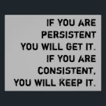 "persistent and consistent poster<br><div class=""desc"">motivational classroom poster</div>"