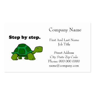 Persistent Winning Tortoise Turtle Step by Step Business Card