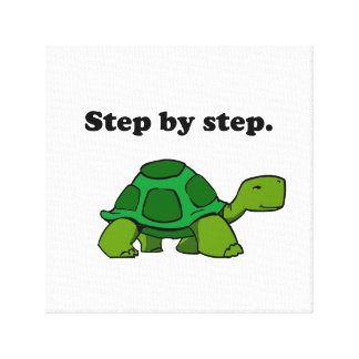 Persistent Winning Tortoise Turtle Step by Step Canvas Print
