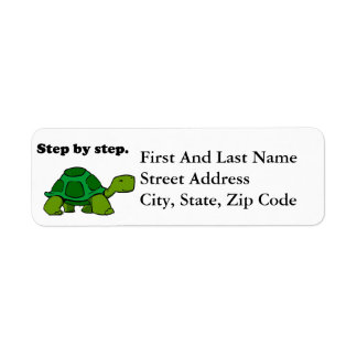 Persistent Winning Tortoise Turtle Step by Step Label