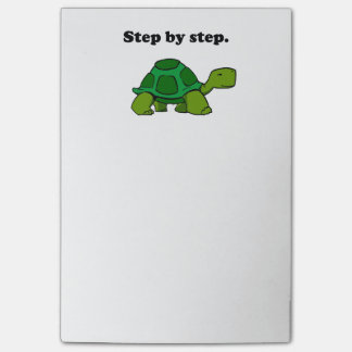 Persistent Winning Tortoise Turtle Step by Step Post-it Notes