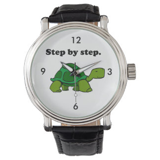Persistent Winning Tortoise Turtle Step by Step Wrist Watches