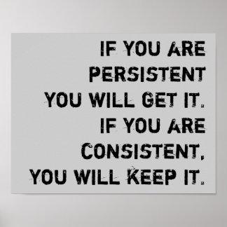 persistente y constante póster