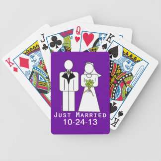 Persoanlized Just Married Bicycle Playing Cards