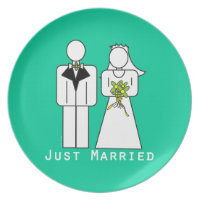 Persoanlized Just Married Plate