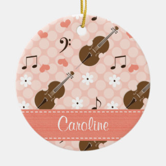Persoanlized Pink Cello Ornament