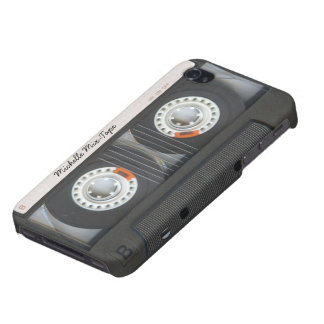 Persoanlized Retro Mix-Tape iPhone 4 Cover