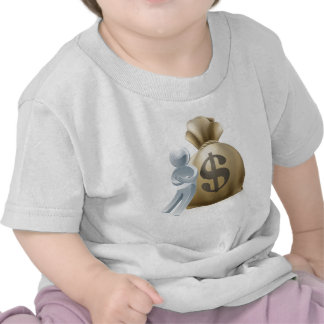 Person and money sack shirts
