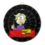 Person eating hot wings cartoon HOT Dartboard With Darts