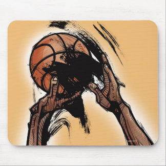 Person holding basketball mouse pad