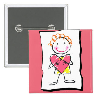 Person Holding Heart Valentine's Day  Button