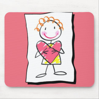 Person Holding Heart Valentine's Day Mousepad