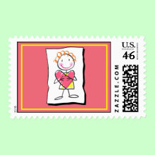 Person Holding Heart - Valentine's Day Postage Stamp