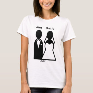 Person Icon Wedding Couple Silhouette T-Shirt