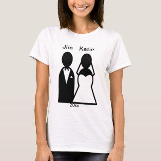Person Icon Wedding Couple Silhouette T-Shirt