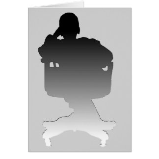 Person in Chair Silhouette - Card