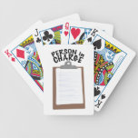 Person In Charge Bicycle Playing Cards