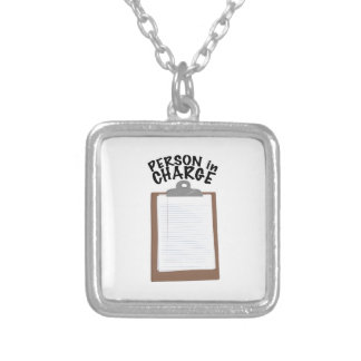 Person In Charge Square Pendant Necklace