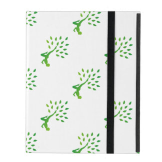 Person in yoga pose forming a healthy tree iPad case