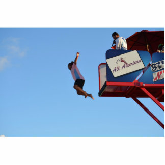 person jumping off of tower fair ride photo cutouts