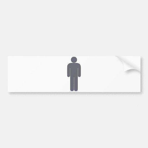 Person Man Sign Universal Silhouette Classic Comic Bumper Stickers
