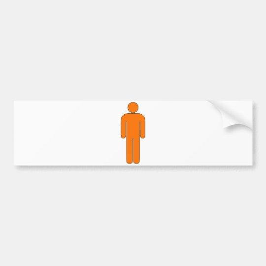 Person Man Sign Universal Silhouette Classic Comic Bumper Sticker